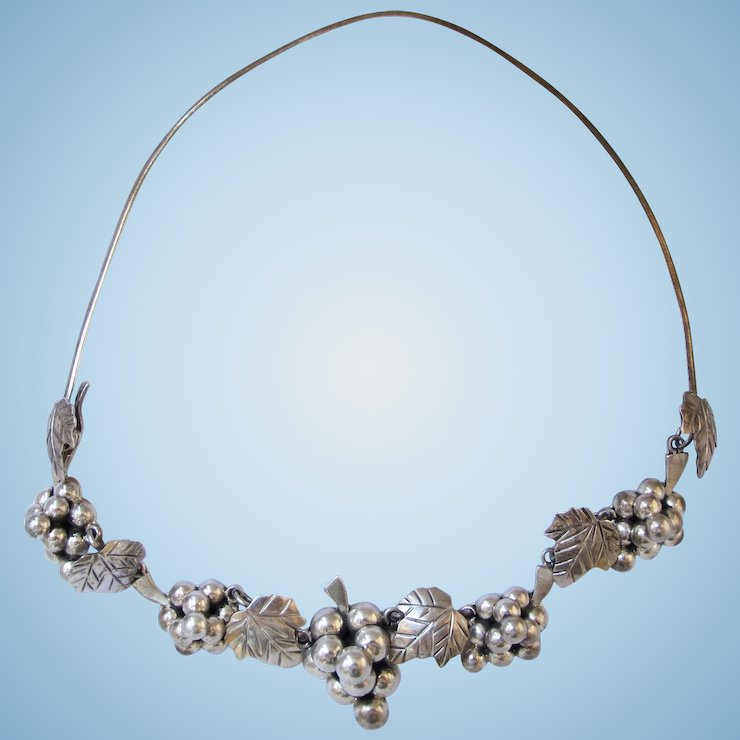 necklaces silver vine statement necklace crystal