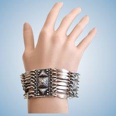 Vintage Geraldo Lopez Sterling Silver Link Bracelet - Eagle 26 Hallmark