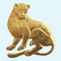 Vintage MMA (Metropolitan Museum of Art) 1985 Jaguar Cat Pin