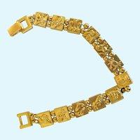 Vintage Monet Zodiac Link Bracelet