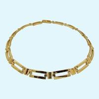 Vintage Napier Gold Tone Link Choker Necklace