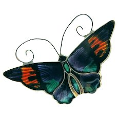 David Andersen Sterling Purple Enamel Butterfly Brooch. 2Hearts Jewelry U0026  Accessories