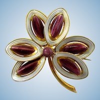 Vintage Norway Silver Flower Pin - Purple Guilloche Enamel by Aksel Holmsen