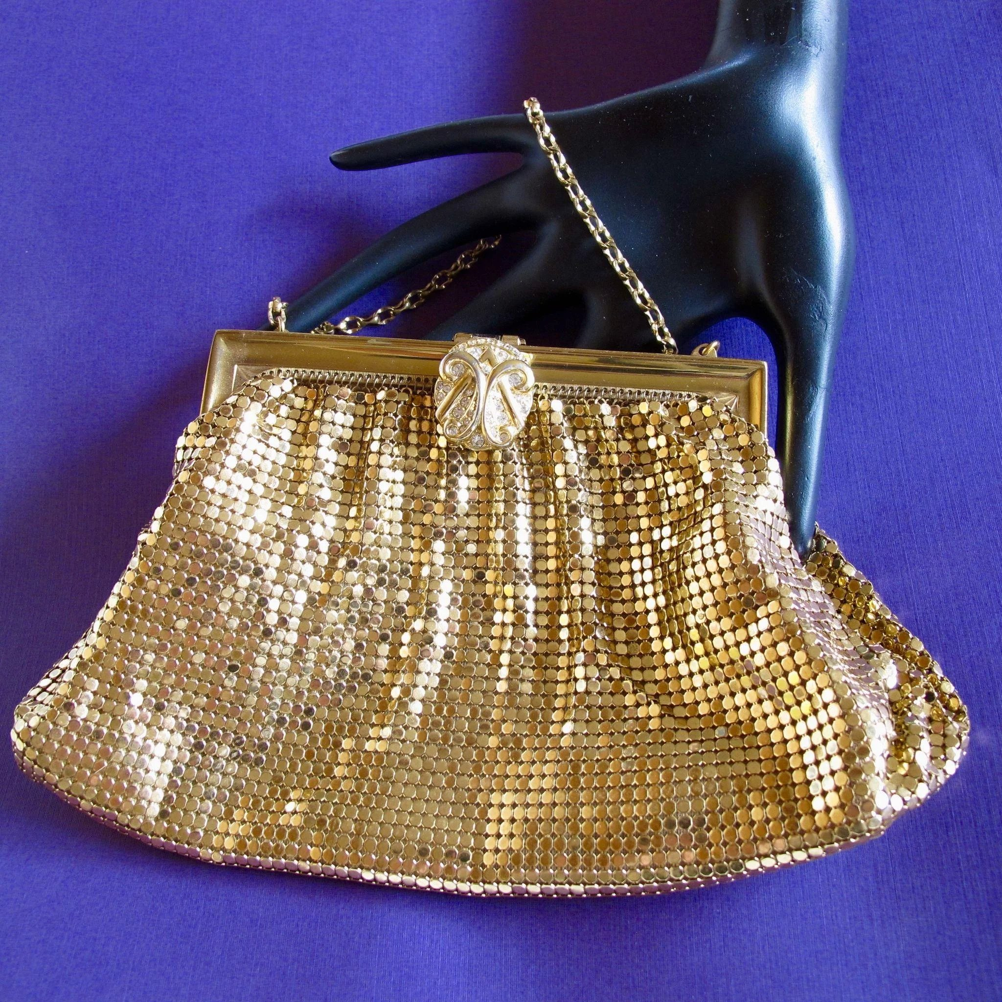 Whiting and Davis Gold Mesh Purse : 2Hearts Jewelry