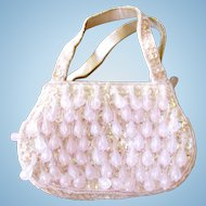 La Regale Pink Teardrop and Sequin Purse