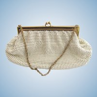 Vintage Whiting & Davis White Mesh Purse