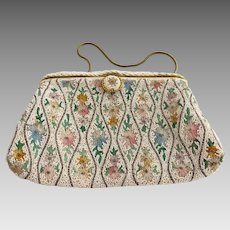 Vintage Purse - Seed Bead and Tambour Made in France for Ed. B. Robinsons