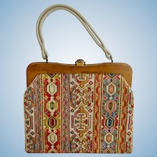 Vintage Large Tapestry Carpet Purse