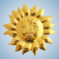 Vintage MMA (Metropolitan Museum of Art) 1990 Sun Pin / Pendant
