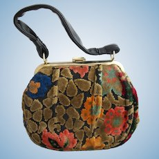Vintage Chenille Tapestry Purse