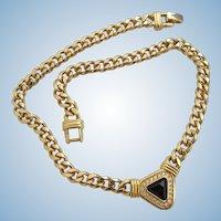 Vintage S.A.L. Swarovski Gold Plated Choker Necklace