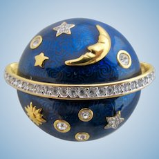 Swarovski Celestial Stars and Moon Clamper Brooch