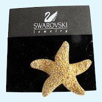 Vintage Swarovski Starfish Brooch
