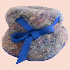 Vintage Schiaparelli Woven Wool Hat - in Original Hat Box