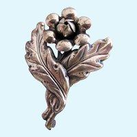 Vintage Sterling CF Flower Pin