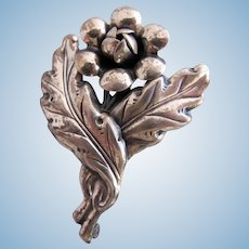Vintage Sterling CF Flower Pin