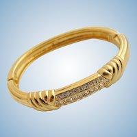 Vintage Signed Swarovski Rhinestone Bangle Bracelet