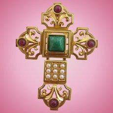 Vintage Elizabeth Taylor for Avon Katharina Cross Pin / Pendant