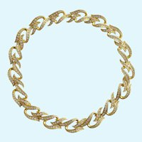 Vintage Elizabeth Taylor for Avon Eternal Flame Rhinestone Necklace - IOB