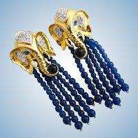 Vintage Elizabeth Taylor for Avon Elephant Walk Clip Earrings
