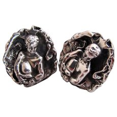 Tortolani Aquarius Zodiac Sign Cuff Links
