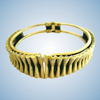 Vintage Tortolani Vertical Bars Clamper Bracelet