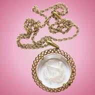 Vintage Trifari Sagittarius Zodiac Pendant