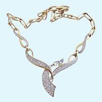 Vintage Trifari Icy Drop Design Necklace