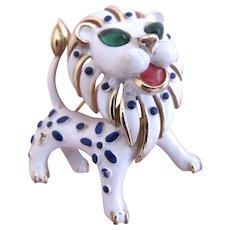 Vintage Trifari Precious Pet Lion Pin - Advertisement Piece