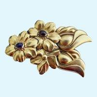 Vintage Huge Tulla Booth Flower Brooch