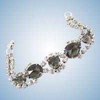 """Vintage """"Black Diamond"""" Rhinestone Bracelet"""