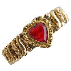 Vintage Child's Sweetheart Expansion Bracelet by Carmen