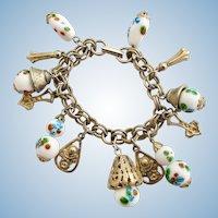 Vintage Lampwork Charm Bracelet