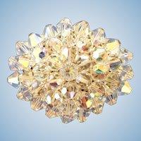 Vintage Aurora Borealis Crystal Pin