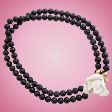 Vintage KJL for Avon Midnight Rose Choker Necklace