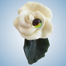 Wendy Gell Lucite Rose Pin
