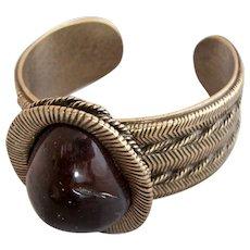Wendy Gell Faux Amber Cuff Bracelet