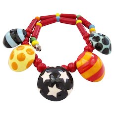 Flying Colors Colorful Balls Ceramic Necklace