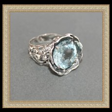 Sterling Silver Topaz Aquamarine Color!!! - Red Tag Sale Item