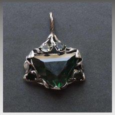 Sterling Silver Magen David Green Amethyst quartz
