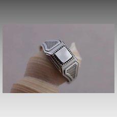 Mens Sterling Silver Ring Handmade