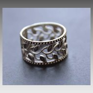Oxidized Sterling Silver Ring Women's Ornament Ring