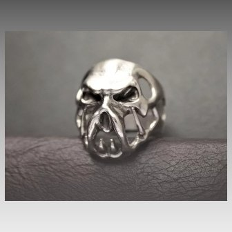 Mens Sterling Silver Ring Size 10