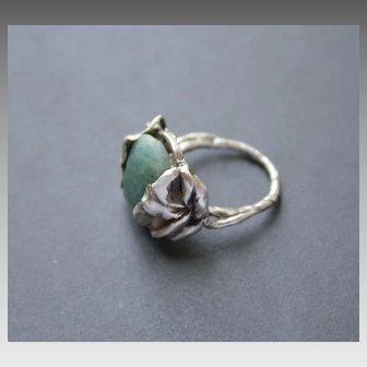 Ring Sterling Silver   Aventurine Ring