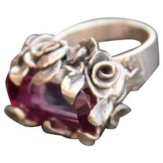 Sterling Silver Ring Lab Corundum Color Change Alexandrite Ring