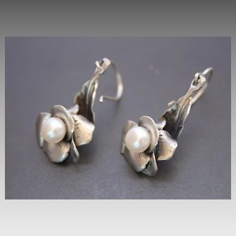 Earrings Sterling Silver Pearls