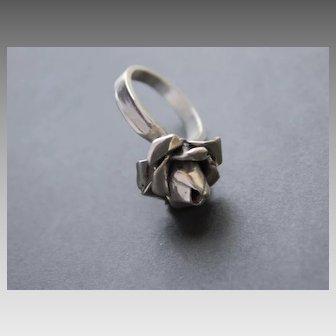 Ring  Sterling Silver Handmade Flower Ring
