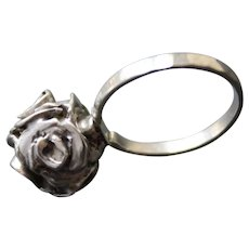 Ring Sterling Silver Ball of Roses Ring