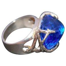 Ring Sterling Silver Tanzanite Quartz Ring