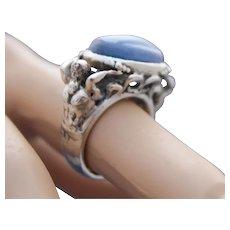 Ring  Sterling Silver Handmade Ring Natural Kyanite ғʀᴇᴇ sʜɪᴘᴘɪɴɢ